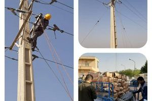 پایان عملیات اجرایی اصلاح و پایدارسازی خطوط برق شبکه آبیاری آبادان