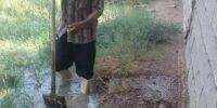 .فع آب گرفتگی منازل روستائیان واقع در ناحیه عمرانی TB2 چوئبده آبادان