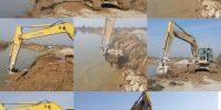 عملیات ترمیم و تثبیت آبشستگی در برم رودخانه کرخه نور