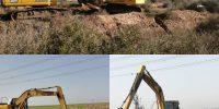 آغاز عملیات لایروبی زهکش های اصلی شبکه آبیاری کوثر