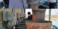تعمیرات اساسی دو دستگاه الکتروپمپ ۲۰۰ کیلو وات ایستگاه پمپاژ شبکه کوثر