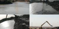 عملیات لایروبی کانالهای آبیاری شبکه آبادان و اروند کنار