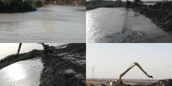 آغازعملیات لایروبی کانال های آبیاری شبکه آبادان و اروند کنار