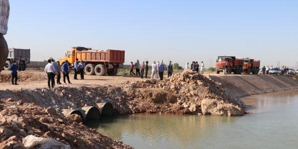 عملیات ضربتی انسداد کانال انتقال آب شهیدچمران انجام شد