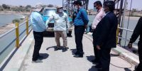رفع نشتی آب در سد انحرافی کرخه۱