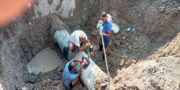 ترمیم خط اصلی آبرسانی به ناحیه عمرانی MD4 در حوزه کارون جنوبی