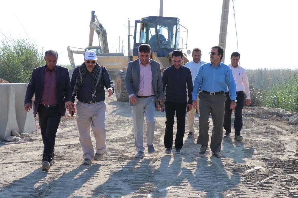 بازدید مسعود صادقی مدیر عامل شرکت کرخه و شاوور